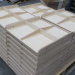 wood display assy sand, glue & nail finished items